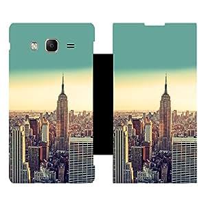 Skintice Designer Flip Cover with Vinyl wrap-around for Samsung Tizen Z3 , Design - NewYork
