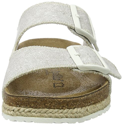 P-A Arizona Birko-Flor, Mules Femme Grau (Beach Ligth Grey)