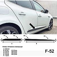 Spangenberg Listones de protección Lateral, Color Negro, para Renault Megane IV Hatchback de 5