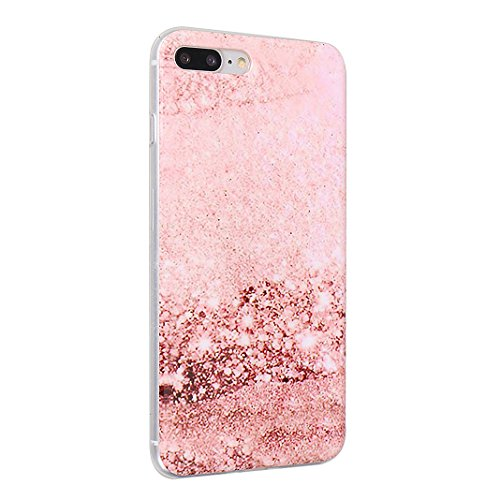 iPhone 7 Plus Case, iPhone 8 Plus Hülle Silikon, Moon mood® TPU Silikon Handyhülle Schutzhülle Case für Apple iPhone 8 Plus / 7 Plus 5.5 Zoll Thin Dünn Weich TPU Schutz Etui Cover, Flexibel Silikon Ca Muster 10