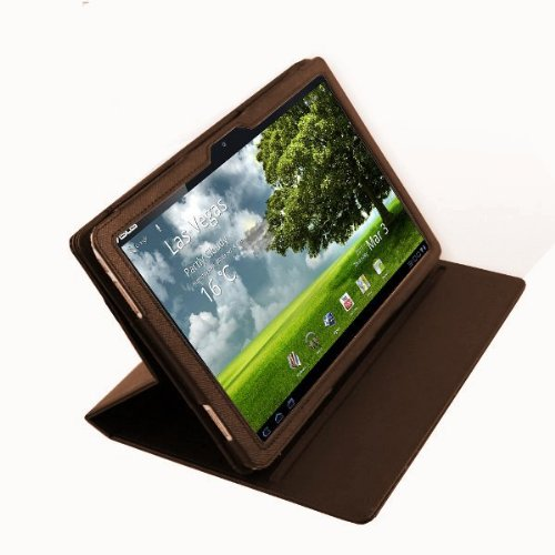 Foto Navitech Custodia Marrone in Pelle Bycast per Asus EeePad Transformer TF101 10.1 inch Tablet PC Android 3.0