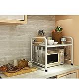 Shelf Küchenboden Mikrowellenofen Wok Edelstahl Multi Regal (Color : White, Size : 55 * 35 * 50cm)