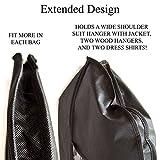 2 Schwarz Kleidersack Cherbell Polyester Kleiderhülle Kleiderschutz Aufbewahrung 120 × 60 cm - 5