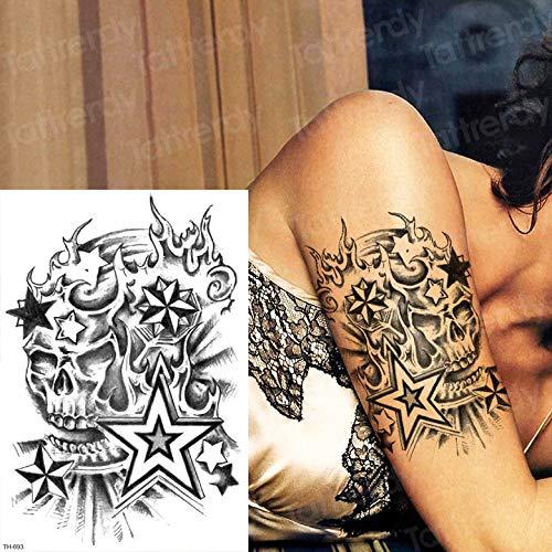 Schulter-oberarm-schmerzen (Handaxian 3pcsSamurai Tattoo schwarz Skizze Tattoo Design Mann Arm Ärmel Schulter Tattoo Aufkleber)