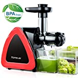 Entsafter Slow Juicer, Homever Entsafter Gemüse und Obst, Kauen entsafter mit Ruhiger Motor und Umkehrfunktion,...