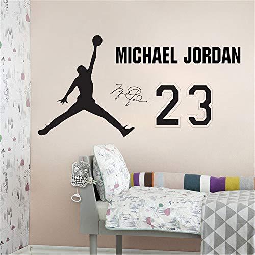 wandaufkleber 3d Wandtattoo Schlafzimmer NBA-Star-Basketballspieler Michael Jordan House Decor Sports Room Decals