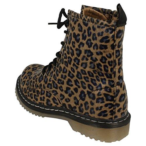 Spot Tacchi Leopardo Alti Con Di Marrone Lace Pelle I Fqw6gnxBWB