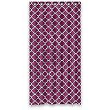 Custom Vierpass-Muster Wasserdicht Polyester Duschvorhang, aus Stoff, Textil, Color12, 60(W)x72(H)