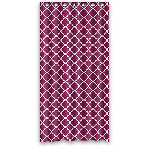 Custom Vierpass-Muster Wasserdicht Polyester Duschvorhang, aus Stoff, Textil, Color12, 60(W)x72(H) -