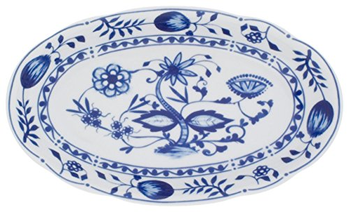 Kahla - Porcelaine pour les Sens 173304A72067U Rossella Zwiebelmuster Plat de Service Bleu 23 cm