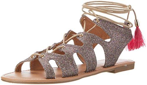 Buffalo Shoes Damen 315719 XQ-818-48 10#Glitter Knöchelriemchen, Mehrfarbig (Multi 01), 41 EU