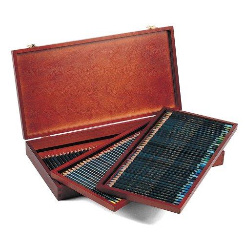 Derwent artists matite colorate in scatola di legno (confezione da 120)