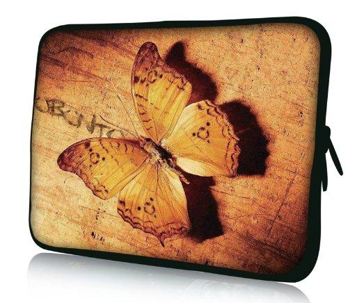 Luxburg® Design Laptoptasche Notebooktasche Sleeve für 14,2 Zoll (auch in 10,2 Zoll | 12,1 Zoll | 13,3 Zoll | 14,2 Zoll | 15,6 Zoll | 17,3 Zoll) , Motiv: Vintage - Vaio Weiß Sony Laptop
