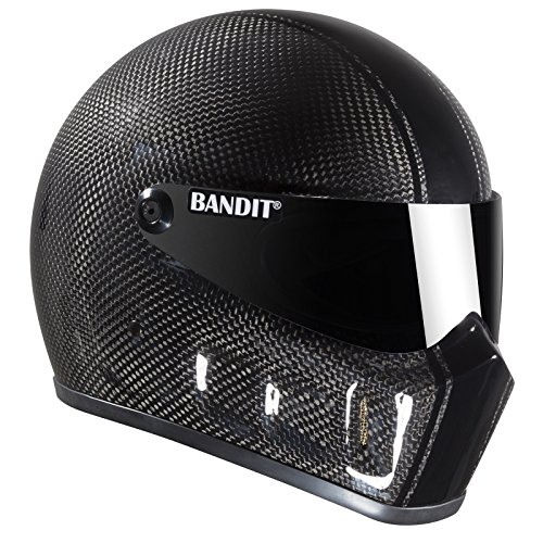 Bandit Super Street II Carbon,Fighterhelm,Motorradhelm,gute Passform,neu, Größe:S(55-56cm), Sports-Farbe:race carbon