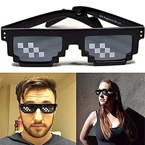 rille 8 bit Meme brille Lustig Party Unisex Sonnenbrille Spielzeug Deal With It Glasses (#3) ()
