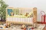 Gitterbett / Kinderbett Kiefer massiv Vollholz natur 103, inkl. Lattenrost - Abmessung 60 x 120 cm