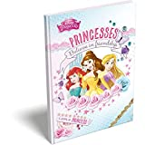 Bloc-notes PRINCESSES Disney couverture rigide A6 (13.7x10.5cm) * livret/carnet secret/fourniture/papeterie