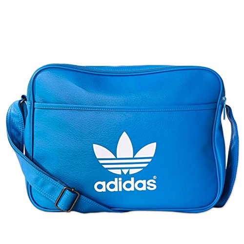 adidas Airliner Classic Shoulder Bag blue Bluebird/White Size:38 x 12 x 28 cm, 13 Liter