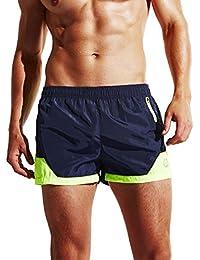 Lecoon Men's Swimming Trunks Shorts Swimwear Quick Drying Boxers Bottoms Mesh Underpants Beachwear