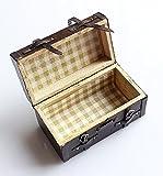 BNASA Puppenhaus-Miniatur, Vintage Leder Holz Koffer Gepäck ornaments-brown