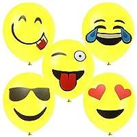 High Quality Latex Balloons - Yellow Emoji Faces Set (12)