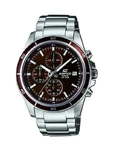 Reloj Casio EFR-526D-5AVUEF de cuarzo para hombre con correa de acero inoxidable, color plateado de Casio