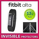 Fitbit Alta Smartuhr-Displayschutzfolie, mit militärtauglichem Schutz, exklusiv für Ace Case, 12-er Packung