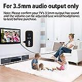 [2018 Version] Avantree In Ear TV Kopfhörer Langes Kabel, Langes Ohrhörer mit Mikrofon und 3.5m Verlängerungs Schnur für PC, Metall Stereo In-Ear Headset Ohrstöpsel mit Wendelkabel - HF027