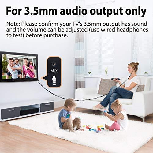 [2018 Versione] Avantree Auricolari TV con Cavo Lungo da 3.5 metri /12 ft, In Ear Cuffie Lunghe con microfono per...