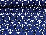 Nano Softshell Fiete von Swafing, Anker, blau (Meterware ab