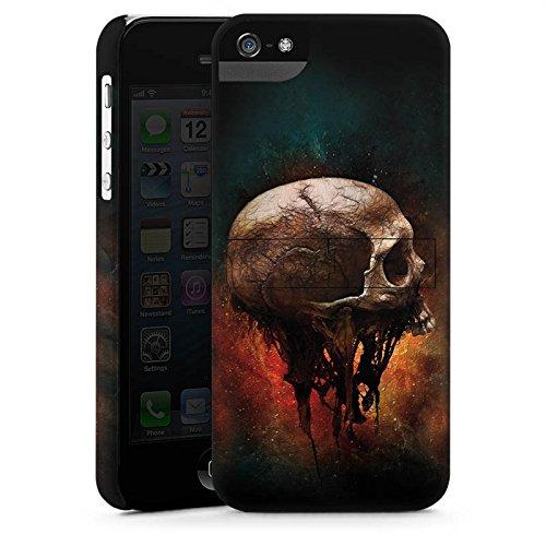 Apple iPhone X Silikon Hülle Case Schutzhülle Skull Halloween Scream Premium Case StandUp