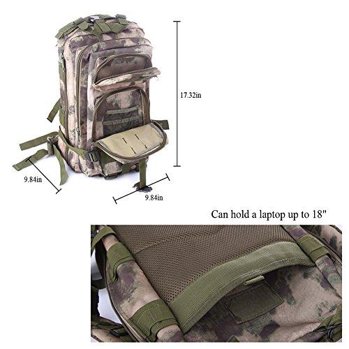 lokep Outdoor grande capacità resistente e impermeabile Borsa Zaino Campeggio Trekking militare tattico zaino escursionismo zaino diversi colori per escursionismo, campeggio viaggio arrampicata, Uomo, Color 1