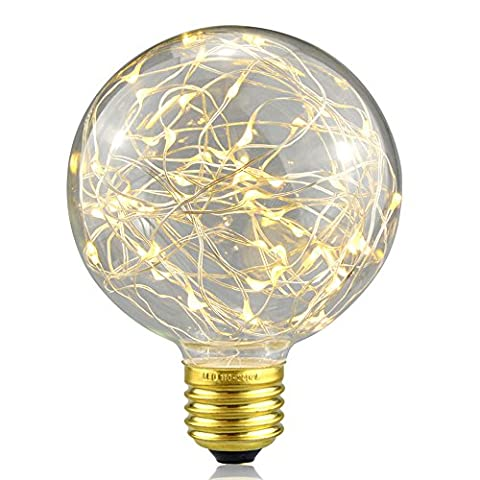 Decorative Light Bulbs,XinRong New Edison LED Starry Sky Copper Wire Lights E27 Base 220V 3W Energy-Saving Vintage Buld for Indoor Xmas Holiday Pendant Light Decoration (Warm white)