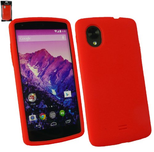 Emartbuy® Silicon Skin Cover Case Red For LG Google Nexus 5  available at amazon for Rs.149