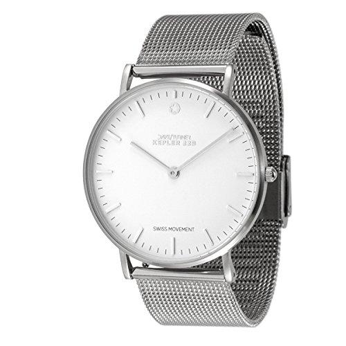 Daye/Turner Damen Uhr Analog Schweizer Uhrwerk mit Metall-Armband DT-91SLM12SL-48SL
