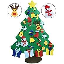 XYJIE 3.6 pies DIY Set de árboles de Navidad con Fieltro DIY para Niños 29 Unids