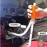 Lzndeal Bomba Manual,Manguera plástica de la Bomba de la Transferencia del sifón para el líquido del Agua del Aceite del Gas del Motorista del Coche