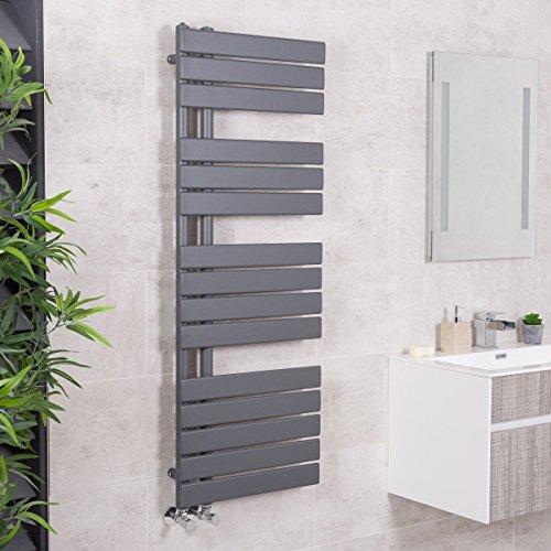 Designer Handtuchheizkörper Badheizkörper 1380x500mm Grau