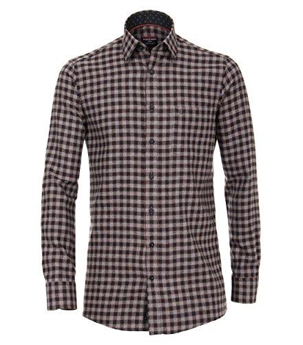 Casa Moda - Comfort Fit - Herren Flanell Freizeit Hemd in Rot oder Anthrazit (472859700)