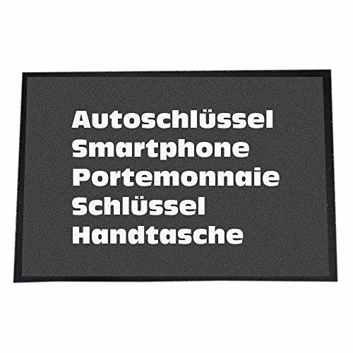 4you Design 40 x 60 cm, Autoschlüssel, Smartphone, Portemonnaie, Schlüssel, Handtasche
