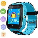 Reloj Inteligente para niños para niños - Reloj Digital para niños con botón Anti-perdida SOS Rastreador GPS Reloj Inteligente Gran Regalo para niños Podómetro Reloj Inteligente para iOS Android