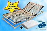 Pro-Manufactur 7-Zonen Premium Lattenrost mit 42 Leisten 90x200cm inkl.Matratzenschutz