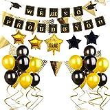KiraKira Decoracion graduación Infantil,Kit de Suministros para Fiesta de graduación,2019 Decoracion de graduacion,estandarte de graduación Estamos Muy Orgullosos de Usted