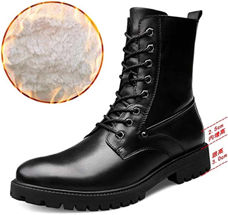 Stivali a metà Polpaccio da Uomo Casual Outdoor Faux Fleece all'Interno di Hidden Army Heel stivali Scarpe da Cricket | Nuove varietà sono introdotte  | Uomo/Donne Scarpa