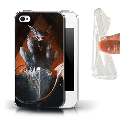 Offiziell Chris Cold Hülle / Gel TPU Case für Apple iPhone 4/4S / Herzensucher Muster / Wilden Kreaturen Kollektion Vampirfledermaus