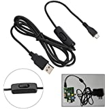 ELEGIANT Micro USB Switch Power Supply Charging Cable Line Cord For Raspberry Pi , BlackBerry, Android, Samsung, Sony, Nokia Phones