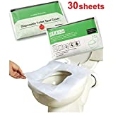 Grasshopr Sanitary Disposable Toilet Seat Covers protection in public rest rooms Set of 30 Sheets