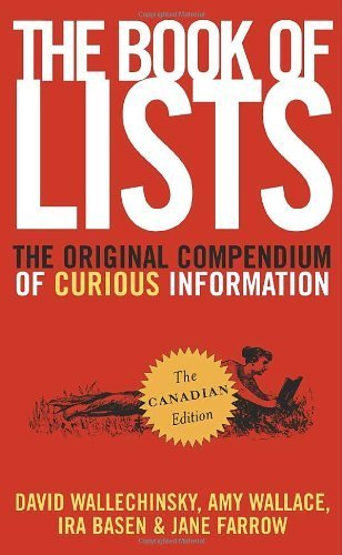 The Book of Lists: The Original Compendium of Curious Information by David Wallechinsky (2006-10-31)