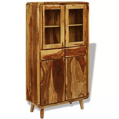 Tidyard Sideboard Sheesham Holz 90×40×175 cm Möbel Schränke Buffets Sideboards Komplett handgefertigt -