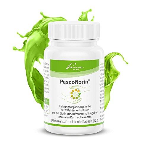 Pascoe® Pascoflorin: 9 probiotische Milchsäurebakterien-Kulturen für die Darmflora - Biotin für den Stoffwechsel - auch begleitend zur Antibiotika-Therapie - vegan - hergestellt in DE - 60 Kapseln